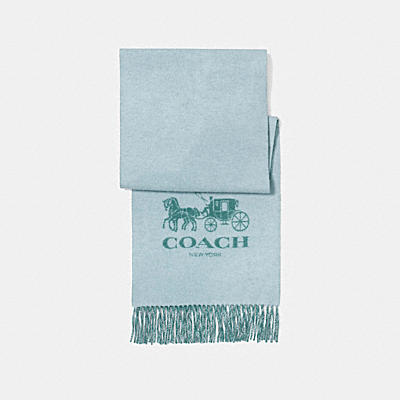 HORSE AND CARRIAGE CASHMERE MUFFLER