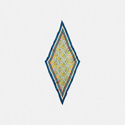 コーチ COACHの新作 |ミックスド フローラル プリント シルク ダイヤモンド スカーフ