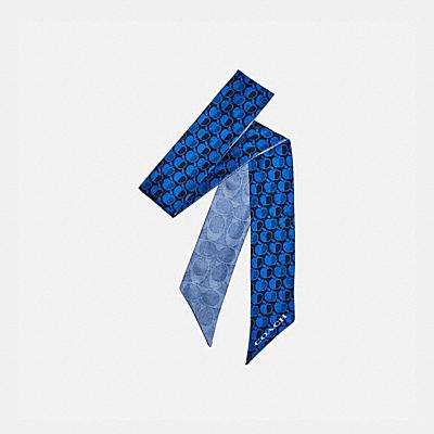 コーチ COACHの全てのレディースウェア |シグネチャー アップル プリント スキニー スカーフ