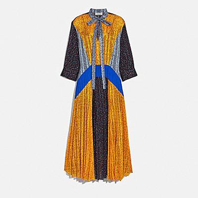 플리티드 타이 드레스