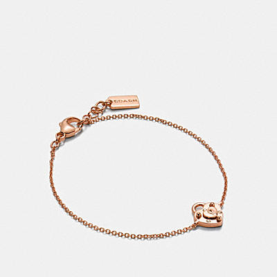 MINI 18K GOLD PLATED PADLOCK HEART BRACELET