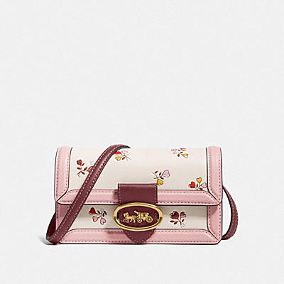 RILEY CONVERTIBLE BELT BAG WITH HEART FLORAL PRINT