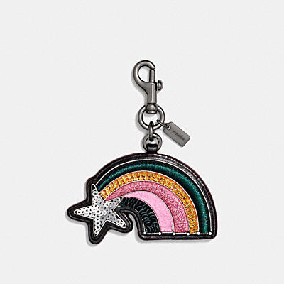 EMBELLISHED RAINBOW BAG CHARM