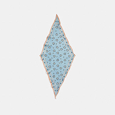 ウェスタン ハート プリント シルク ダイヤモンド
