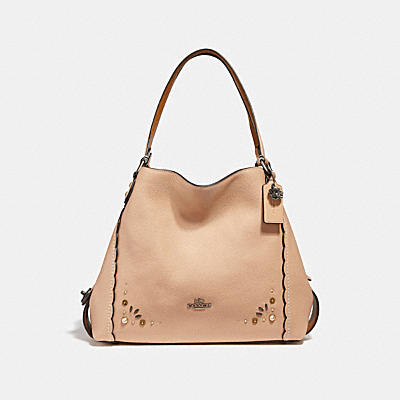 EDIE SHOULDER BAG 31 WITH PRAIRIE RIVETS DETAIL