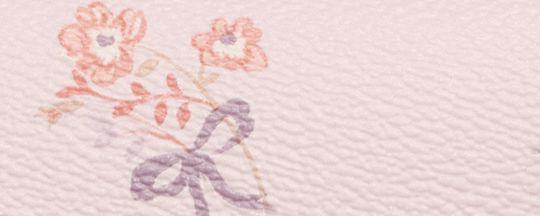 シルバー/アイス ピンク フローラル ボウ