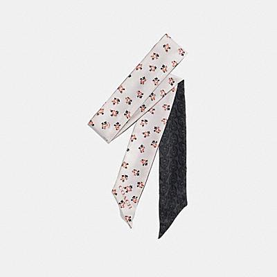 シグネチャー チェーン モノグラム スキニー スカーフ