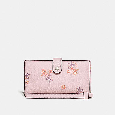 BOXED PHONE WRISTLET WITH FLORAL BOW PRINT