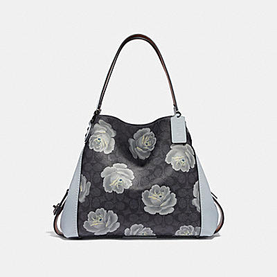EDIE SHOULDER BAG 31 IN SIGNATURE ROSE PRINT
