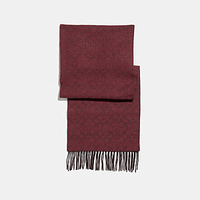 SIGNATURE DOUBLE FACE SCARF