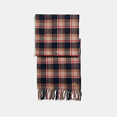 SHIRT PLAID SCARF