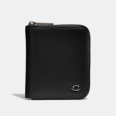 SMALL ZIP AROUND WALLET WITH SIGNATURE HARDWARE