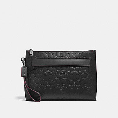 POUCH IN SIGNATURE LEATHER