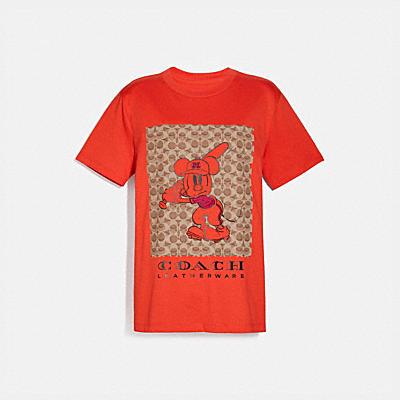 DISNEY X COACH ベースボール ミッキーマウス シグネチャー Tシャツ