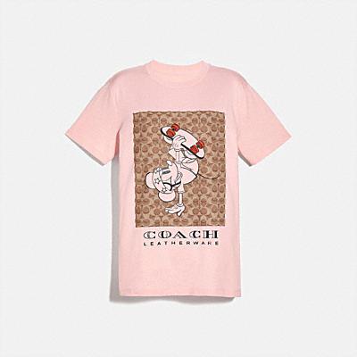 コーチ COACHのシグネチャー スタイル |DISNEY X COACH スケートボード ミッキーマウス シグネチャー Tシャツ