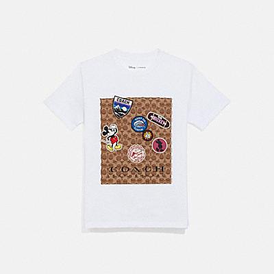 DISNEY X COACH スポーツ パッチ シグネチャー Tシャツ