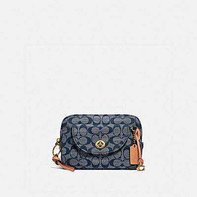 コーチ COACHの財布&革小物 |カーゴ ベルト バッグ シグネチャー シャンブレー