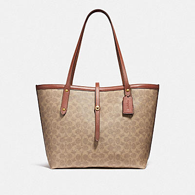 MARKET TOTE IN SIGNATURE CANVAS