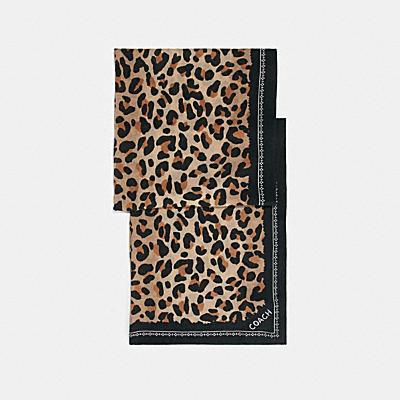 豹紋印花圍巾