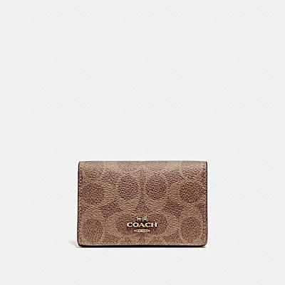 コーチ COACHの全ての財布&革小物 |ビジネス カード ケース シグネチャー キャンバス