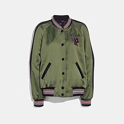 雙面緞料學院夾克