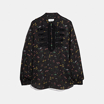WILDFLOWER PRINT MILITARY SHIRT