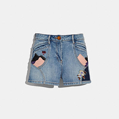 EMBELLISHED DENIM SHORT
