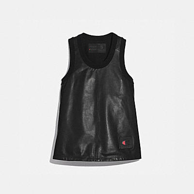 COACH X CHAMPION LEATHER TANK TOP