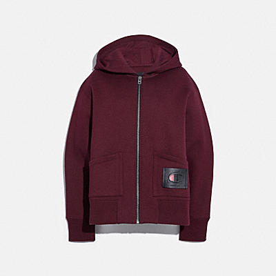 COACH X CHAMPION SUPER FLEECE ZIP HOODIE