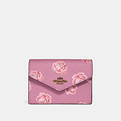 ENVELOPE CARD CASE WITH ROSE PRINT