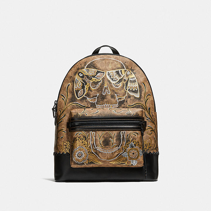 27e4424403f26 ... australia coach official site official pageleague backpack in signature  canvas with tattoo 68d63 df8f7 ...