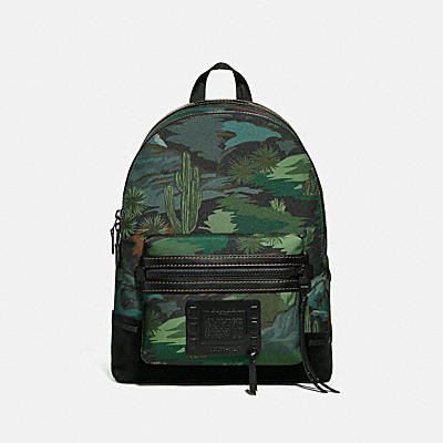 ACADEMY BACKPACK IN CORDURA® FABRIC WITH LANDSCAPE PRINT