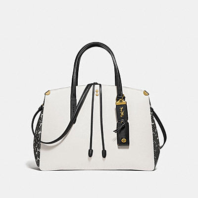 COOPER CARRYALL IN COLORBLOCK WITH GENUINE SNAKE DETAIL