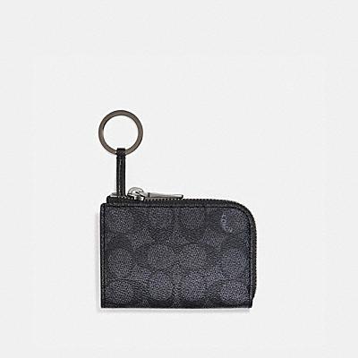 コーチ COACHの全ての財布&革小物 |Lジップ カー キー ケース シグネチャー キャンバス