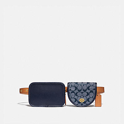 TURNLOCK CONVERTIBLE MULTI BAG IN SIGNATURE CHAMBRAY