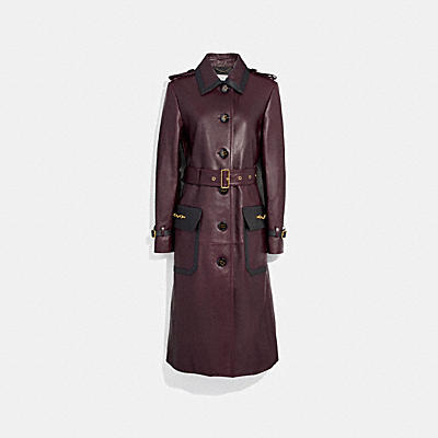 WESTERN LEATHER TRENCH COAT