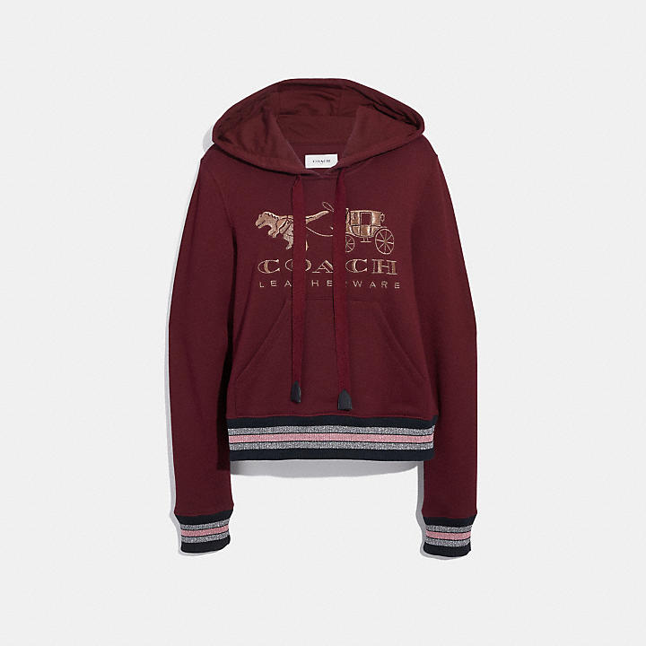 Coach Official Site Official Pagerexy And Carriage Hoodie