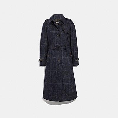 プラッド トレンチ コート
