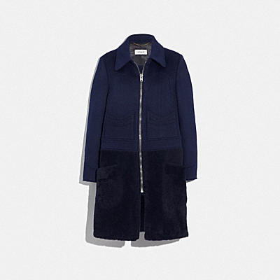 SHEARLING WOOL COAT