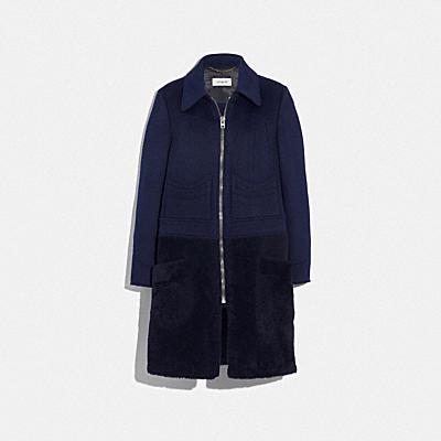 シアリング ウール コート