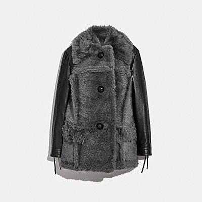 羊毛皮革大衣