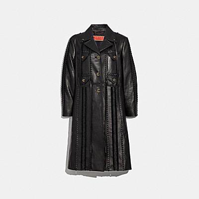 裝飾皮革大衣
