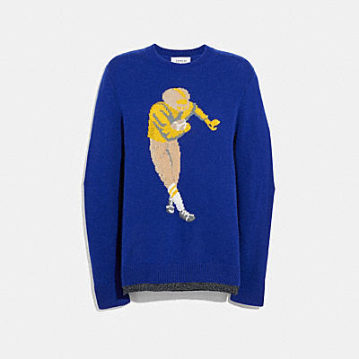 FOOTBALL INTARSIA SWEATER