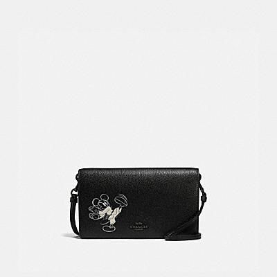コーチ COACHの財布&革小物 |DISNEY X COACH ヘイデン フォルドオーバー クロスボディ ウィズ カラテ ミッキーマウス