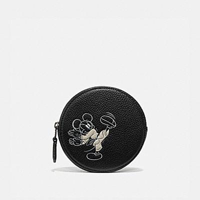 コーチ COACHの財布&革小物 |DISNEY X COACH ラウンド コイン ケース ウィズ カラテ ミッキーマウス