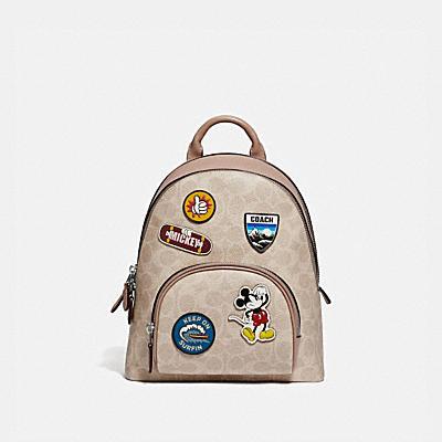 コーチ COACHの全てのレディースバッグ |DISNEY X COACH キャリー バックパック 23 シグネチャー キャンバス ウィズ スポーツ パッチ