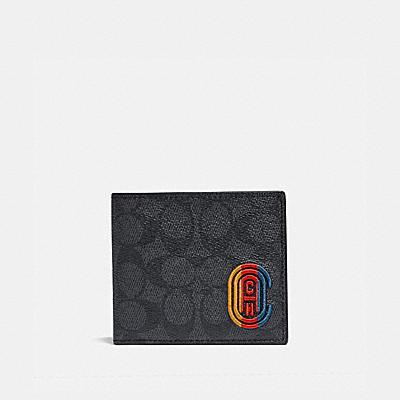 コーチ COACHの二つ折り財布 |コイン ウォレット シグネチャー キャンバス ウィズ コーチ パッチ
