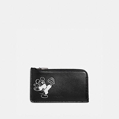 コーチ COACHのコインケース&小銭入れ |DISNEY X COACH Lジップ カード ケース ウィズ カラテ ミッキーマウス