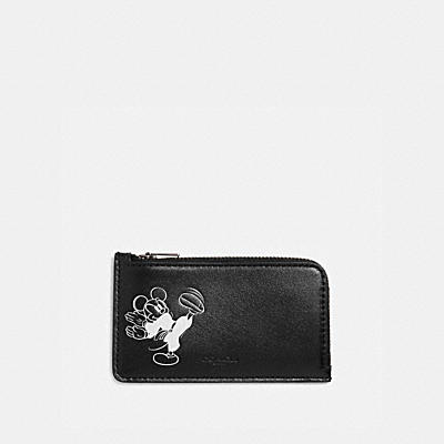 DISNEY X COACH Lジップ カード ケース ウィズ カラテ ミッキーマウス
