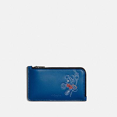 DISNEY X COACH Lジップ カード ケース ウィズ ロープ クライム ミッキーマウス